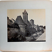 Antique Albumen Photograph of German Castle