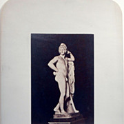 Antique Albumen Photograph of Classical Sculpture