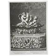 Versailles Fountain Engraving From Louvre #3
