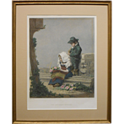 The Children's Offering Antique Etching