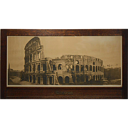 Large 1914 Coliseum Photo In Arts & Crafts Frame