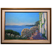 Large Impressionist Oil painting Seascape By Chalmers