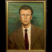 SOLD Oil Portrait of a Man c.1945 By Bob LeRose