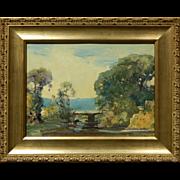 Frederick Mortimer Lamb Plein Air Landscape Oil Painting
