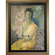 Mid Century Abstract Portrait Of A Woman By O'Donnell