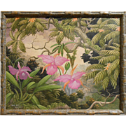 Tropical Orchids Oil Painting