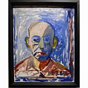 Modern Expressionist Oil Portrait of a Man