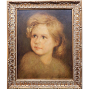 SOLD Antique Oil Portrait Painting Of A Child By Spinoza