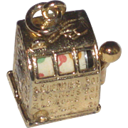 REDUCED Vintage Sterling with Gold Vermeil Slot Machine Charm