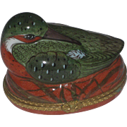 REDUCED Vintage Tiffany & Co Limoges France Bird Trinket Box Hinged