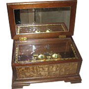 REDUCED Vintage Linden Music Box with 4 BELLS Plays Beautifully!
