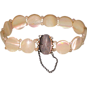 REDUCED Vintage Mother of Pearl and Sterling Silver Bracelet