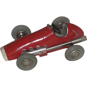 Vintage Schuco Micro Racer 1040 Red Die Cast Key Wind Racer Car US-Zone Germany