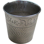 "REDUCED Vintage Webster Sterling Silver ""Only A Thimble Full"" Cocktail Barware Shot"