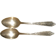 Pair of Matching Sterling Silver Serving Spoons England