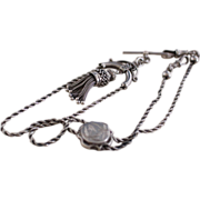 Most Outstanding Silver Watch Chain with Slide and Tassel