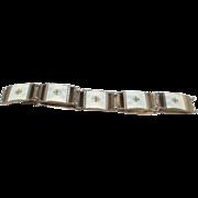 Vintage Norwegian Sterling Enamel Bracelet  - Neils Erik Elvik