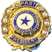 Vintage 14k Past President American Legion Auxiliary Pin