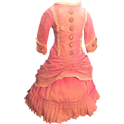 Rare original 1870s dress for large Wax or similar Doll