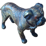 19thC Cold Painted Bronze miniature Bulldog