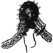 1860s lace headdress for Huret