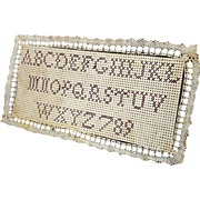 19th C bristle board sampler for early dolls house