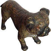 SOLD 19thC cold painted bronze miniature bulldog