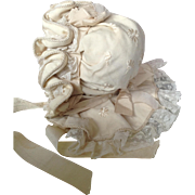 Original 19thC dolls bonnet with bavolet