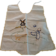 Vintage Hand Embroidered Baby Bib