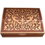 SOLD Italian Inlaid Wooden Reuge Music Box