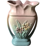 Hull Iris Vase in Pink and Blue.