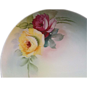 SALE Nippon Yellow and Red Cabbage Rose Plate