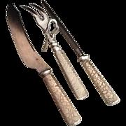 SALE Silver Plate Cutlery Set  Beautifully Embossed Handles