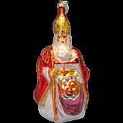 "11"" 1995 Christopher Radko Ornament The Bishop 95-127"