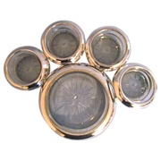SALE Frank M Whiting Sterling and Glass Wine Coaster and Eight Individual Coasters