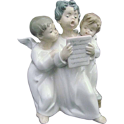 Lladro Figurine Group of Singing Angels 4542