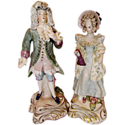 Vintage Corday Cybis French Lady and Gentleman Figurines