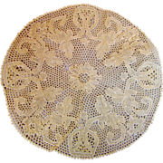 12 Handmade Flanders Lace Linen Cocktail Mats coasters