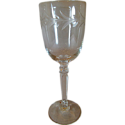Fostoria Cordial Goblet Stem 6030 With Holly Pattern