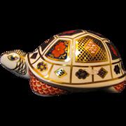 Royal Crown Derby Imari Turtle Paperweight