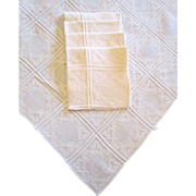 Whitework Tea Cloth with Four Napkins Hand Embroidered