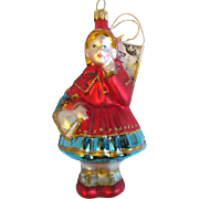 SOLD Pending Sale  Little Red Riding Hood Hand Blown Polonaise Ornament Group by Kurt S. Adler