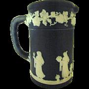 Wedgwood Cobalt Dip Jasperware Cream Jug With Classical Motifs