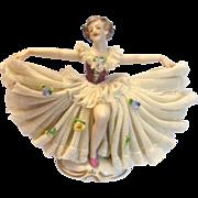 Dresden German Porcelain Lace Ballerina Figurine