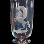 Steuben Pegasus Vase by Sidney Waugh Dated 1937