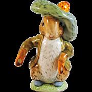SALE Beatrix Potter Beswick England Benjamin Bunny Figurine with Gold Circle BP1a Mark