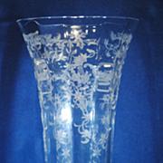 Fostoria Navarre 9.5 inch Footed Vase