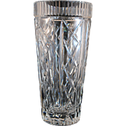 Signed Waterford Cut Glass Crystal 10 inch Vase