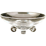 Steuben Crystal Bowl with Scroll Feet #7907 by John Dreves