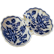 Meissen Blue Onion Double Salt Dish